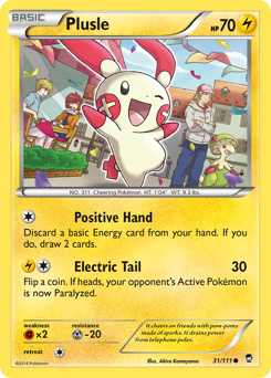 Plusle card for Furious Fists