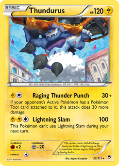 Thundurus card for Furious Fists
