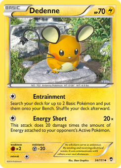 Dedenne card for Furious Fists