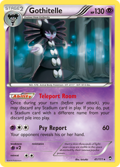 Gothitelle card for Furious Fists
