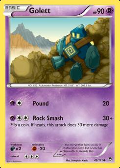 Golett card for Furious Fists