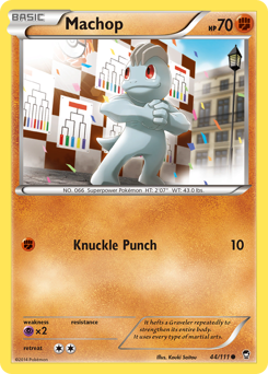 Machop card for Furious Fists