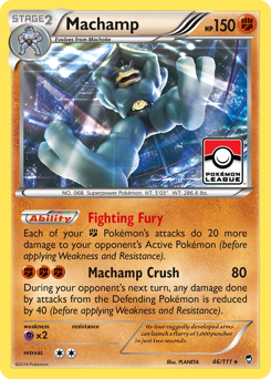 Machamp card for Furious Fists