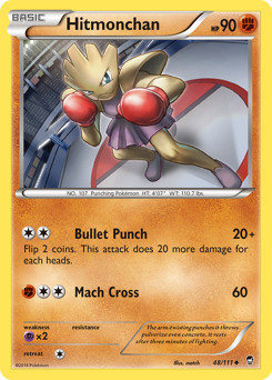 Hitmonchan card for Furious Fists