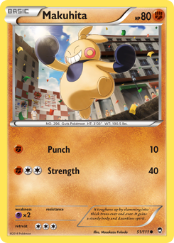 Makuhita card for Furious Fists
