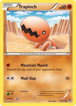 Trapinch card for Furious Fists