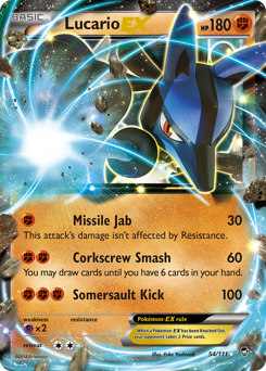 Lucario-EX card for Furious Fists