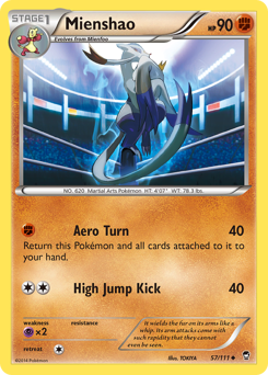 Mienshao card for Furious Fists