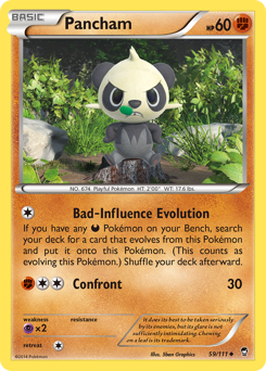 Pancham card for Furious Fists