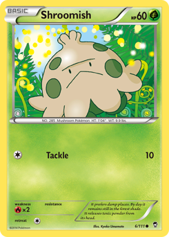 Shroomish card for Furious Fists