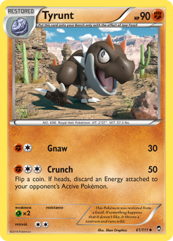 Tyrunt card for Furious Fists