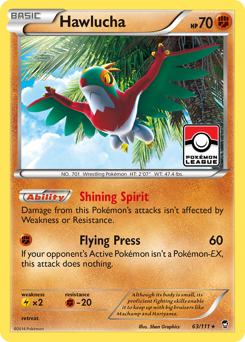 Hawlucha card for Furious Fists