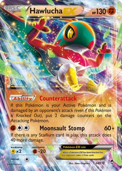 Hawlucha-EX card for Furious Fists