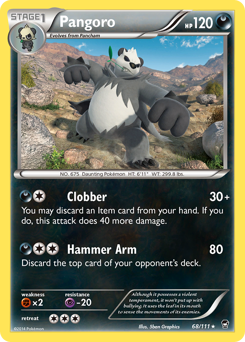 Pangoro card for Furious Fists
