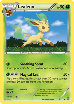 Leafeon card for Furious Fists