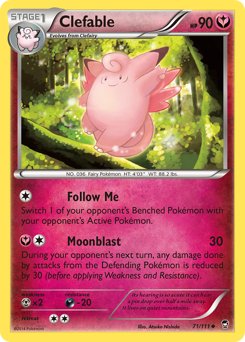 Clefable card for Furious Fists