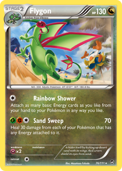 Flygon card for Furious Fists