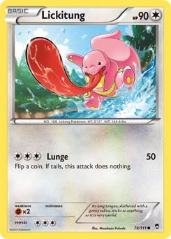 Lickitung card for Furious Fists