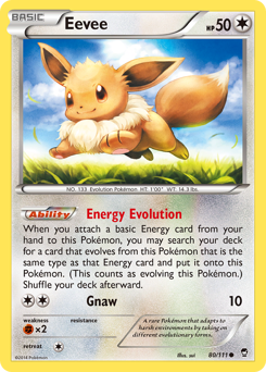 Eevee card for Furious Fists