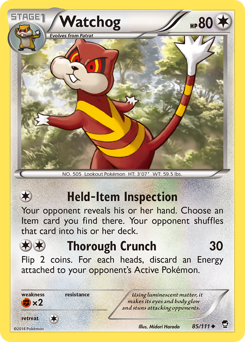 Watchog card for Furious Fists