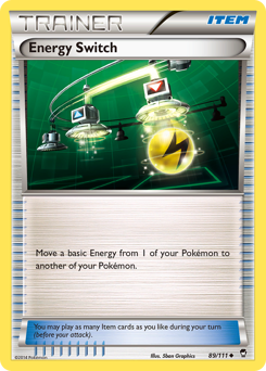 Energy Switch card for Furious Fists
