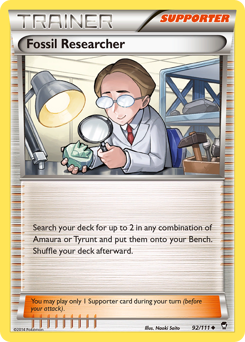 Fossil Researcher card for Furious Fists
