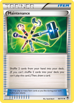Maintenance card for Furious Fists