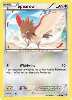 Spearow card for Phantom Forces