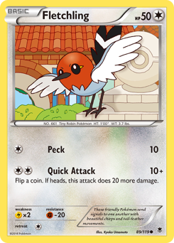 Fletchling card for Phantom Forces