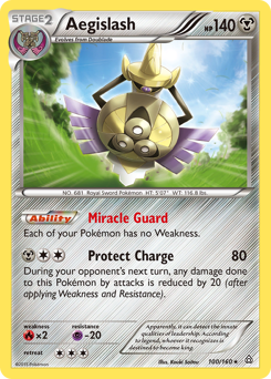 Aegislash card for Primal Clash
