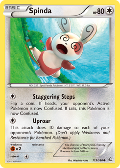 Spinda card for Primal Clash