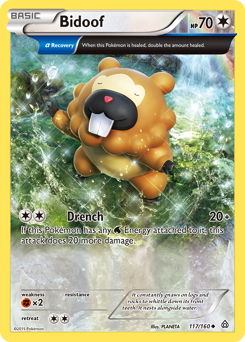 Bidoof card for Primal Clash