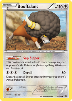 Bouffalant card for Primal Clash