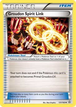 Groudon Spirit Link card for Primal Clash