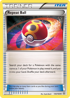 Repeat Ball card for Primal Clash
