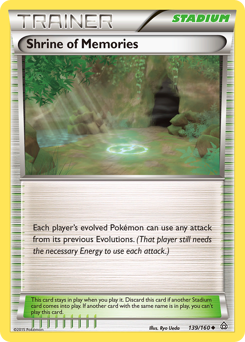 Shrine of Memories card for Primal Clash