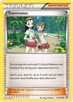 Teammates card for Primal Clash