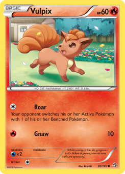 Vulpix card for Primal Clash