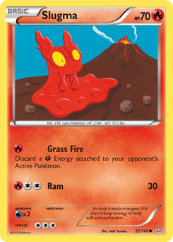 Slugma card for Primal Clash