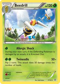 Beedrill card for Primal Clash