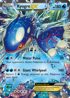 Kyogre-EX card for Primal Clash