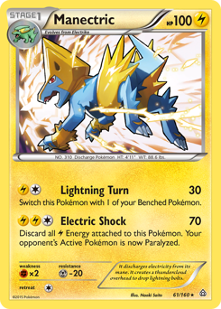 Manectric card for Primal Clash