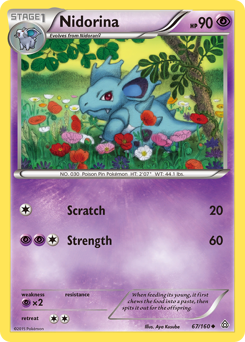 Nidorina card for Primal Clash