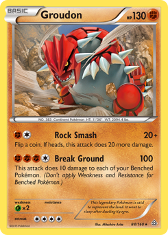Groudon card for Primal Clash