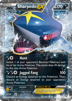 Sharpedo-EX card for Primal Clash