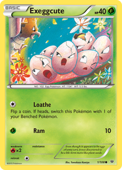 Exeggcute card for Roaring Skies