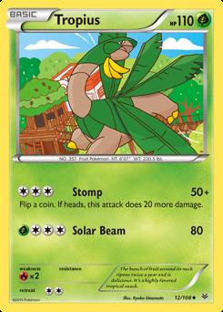 Tropius card for Roaring Skies