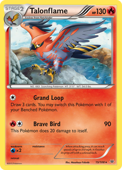 Talonflame card for Roaring Skies