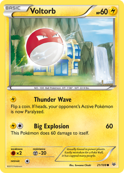 Voltorb card for Roaring Skies