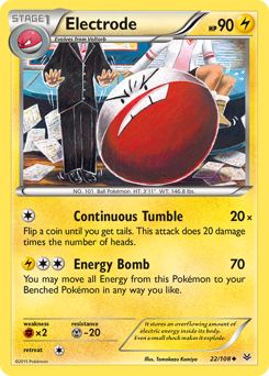 Electrode card for Roaring Skies